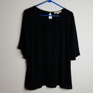 Black Blouse LOFT Plus 20